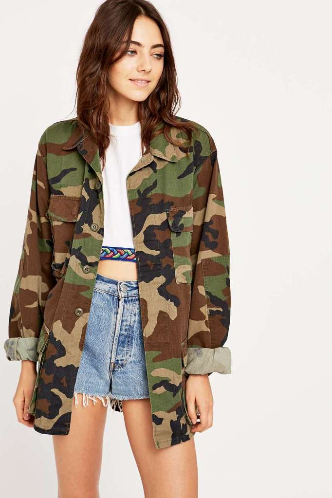 Urban Renewal Vintage Surplus Camo BDU Jacket £42